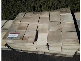 Sandsteinplatten 20x20 geschnitten und gestrahlt ca 17m², Preis pro Palette - Für Ihren Wohlfühlgarten