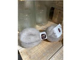 Für Ihren Wellnessgarten - Lunte grau zum Dekorieren, 100 % Schafwolle