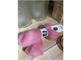 Für Ihren Wellnessgarten - Lunte rosa zum Dekorieren, 100 % Schafwolle