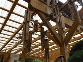 Für Ihren Wellnessgarten - handgefertigtes Windspiel aus Bambusstäben ca. 60 cm